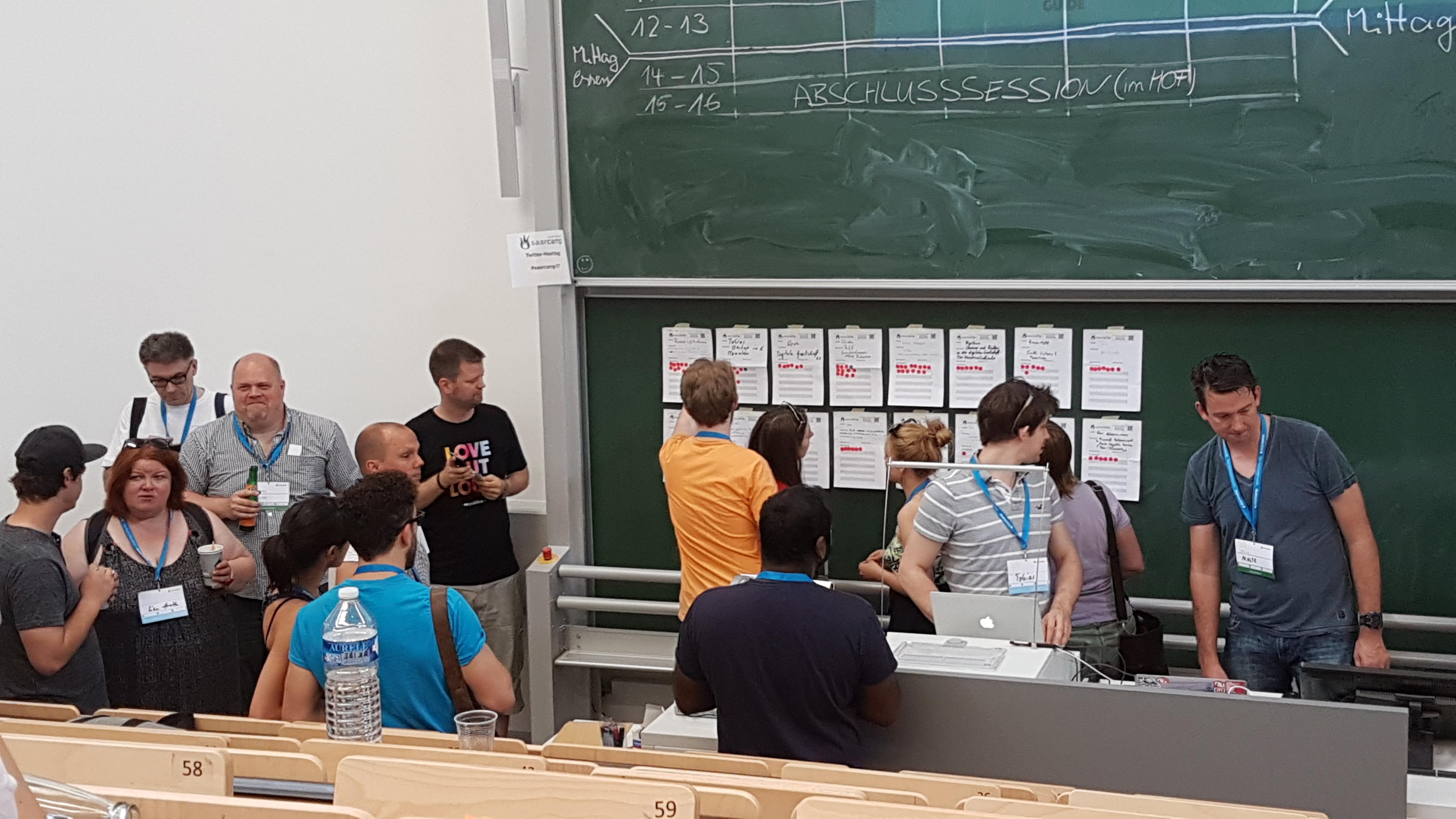 Sessionplanung auf dem Saarcamp 2017
