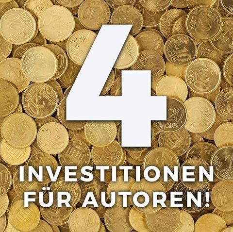 Vier Investitionen für Autoren